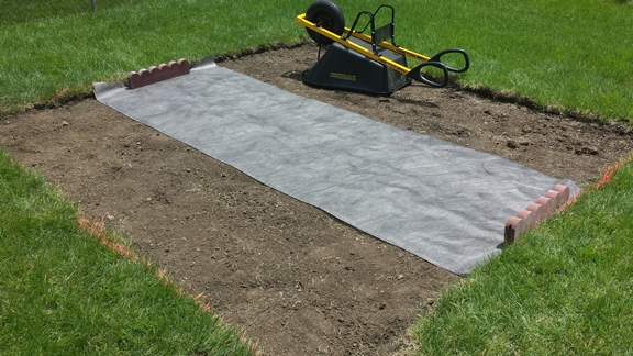 2 - double layer weed block for walkway