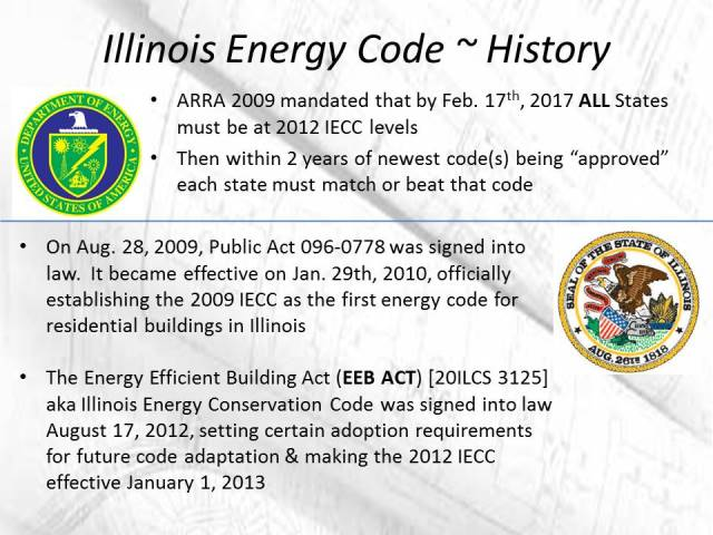 History of the Illinois Energy Code