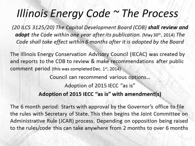 Illinois Energy Code Adoption Process