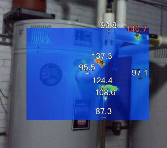 Insulated water heater lines infrared