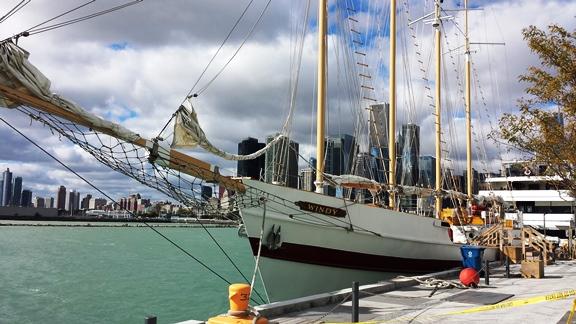 Navy Pier & Chicago skyline