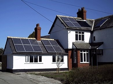 UK house with PV Panels