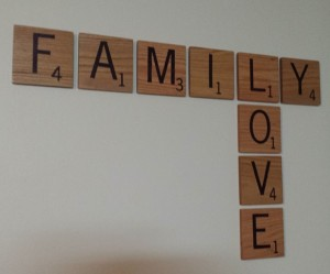 scrabble tile wall art design