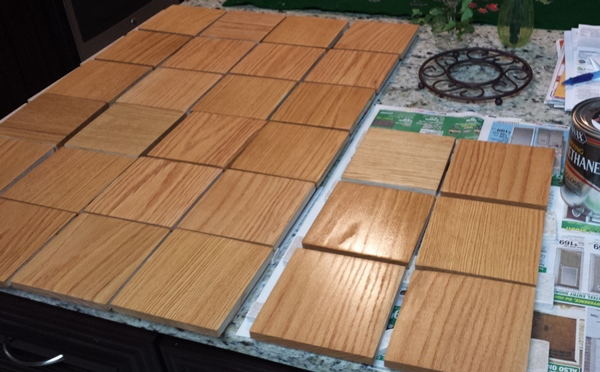 Staining Scrabble Tiles